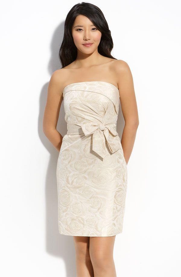 New Kate Spade Kay Strapless Jacquard Dress $425 Size 10 Wedding