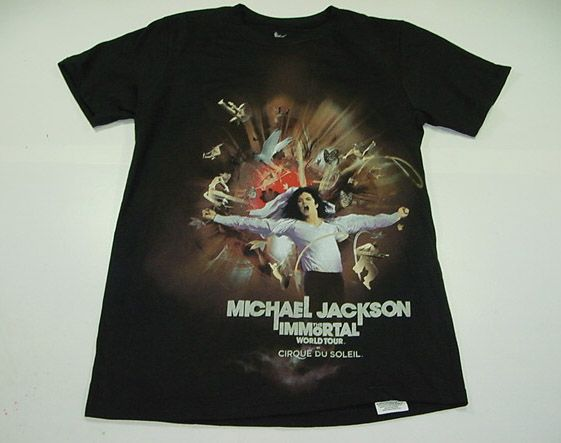 New Cirque Du Soleil Michael Jackson The Immortal Concert Tour T Shirt