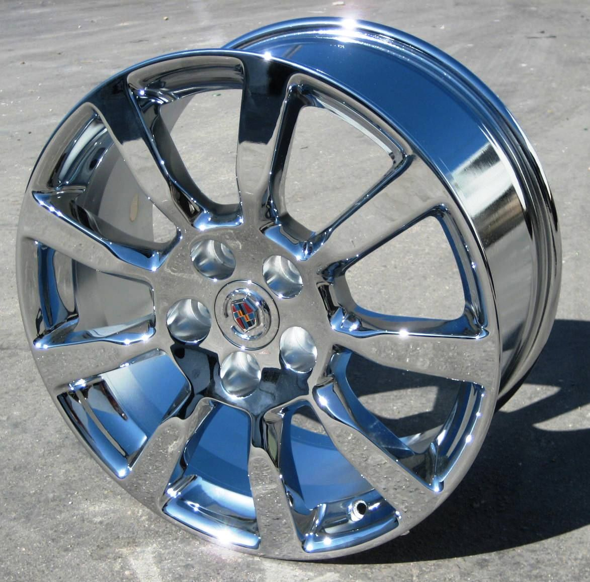 YOUR STOCK 4 NEW 18 FACTORY CADILLAC CTS CHROME WHEELS RIMS 2008 2013