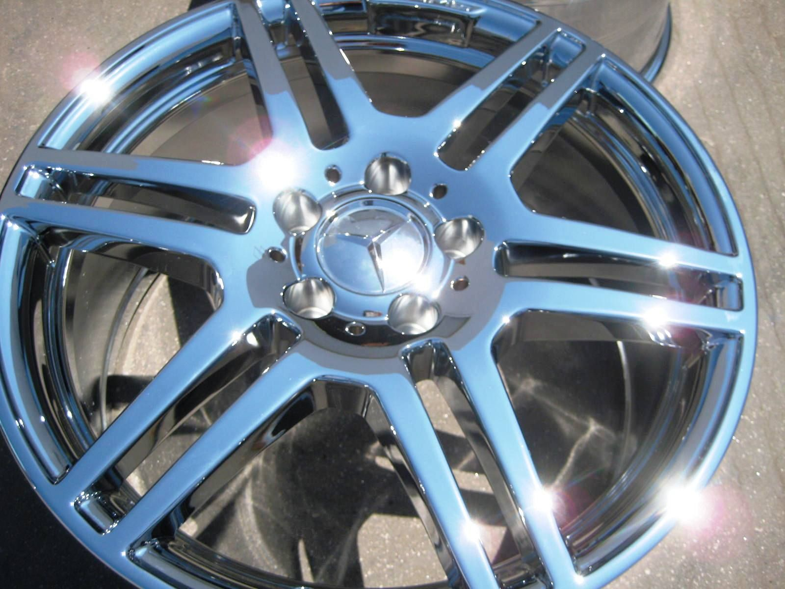 STOCK 4 18 FACTORY MERCEDES E550 E350 AMG CHROME WHEELS RIMS 2010 13